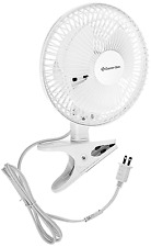 Comfort Zone 6-Inch 2-Speed Clip-On Fan, CZ6C, New, Free Shipping.