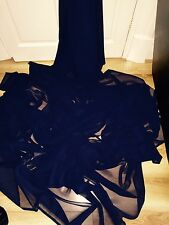 "1 MTR QUALITY NAVY BLUE CHIFFON FABRIC...45"" WIDE £2.49 SPECIAL OFFER"