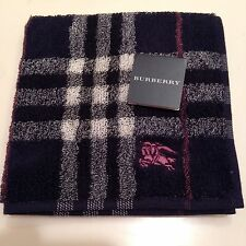 NWT Authentic Burberry Purse Hand towel, Pocket towel, Baby towel, Dk Navy Blue