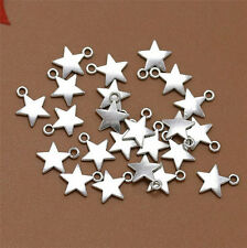 Wholesale 20pcs Tibet Silver Star Charm Pendant Beaded Jewelry AA12