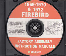 1969 1970 1972 Firebird and Trans Am Assembly Manual CD Pontiac Factory