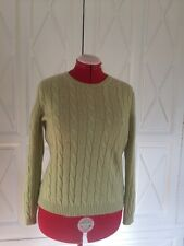 MURRAY ALLAN 100% CASHMERE SWEATER size extra large Made in Scotland pale green