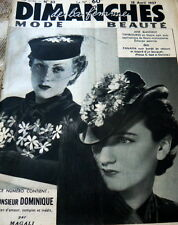 VTG 1930s PARIS SEWING PATTERN MAGAZINE MODE BEAUTE 1937 CATALOG
