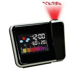 Digital Weather LCD Projection Snooze Alarm Clock with Colorful LED Backlight M5