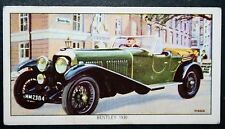 BENTLEY Speed Six       Vintage Illustrated Card  VGC