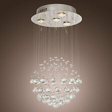 Modern Chrome Crystal Globe Chandelier Pendant Light Lamp Fixture Living/Dining