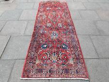 Antico Tradizionale Persiano Tappeti Di Lana Rosso Oriental Tappeto Runner di fatti a mano 280x104cm