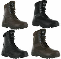 Mens Grafters Leather Combat Top Gun G-Force Police Security Army Military Boots