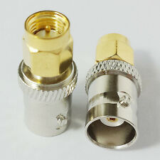 2 Pcs CESS? SMA Male to BNC Female M/F Adapter Connector