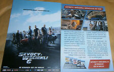 GLOSSY POLISH CINEMA FLYER - FAST AND FURIOUS 6