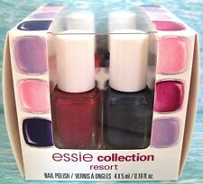 essie RESORT COLLECTION 4-pc Nail Polish Set ~ SURE NO MORE PINK-A-BOO PICTURE