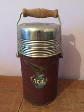 VINTAGE LARGE EAGLE THERMOS MULTIPURPOSE FLASK CAMPING WITH CORK STOPPER