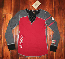 NEW Alp-n-Rock Women's CANADA HENLEY - Burgundy / Gray - Size 2 / Small