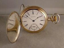111 YEARS OLD WALTHAM  STERLING SILVER MULTICOLOR HUNTER CASE 16s POCKET WATCH