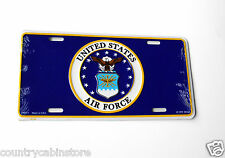 US Air Force USAF Round Emblem Automobile Car Metal License Plate 6 x 12 inches