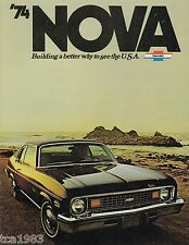 1974 Chevrolet NOVA Brochure/Catalog: SS-350, SUPER SPORT, CUSTOM,