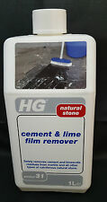 HG HAGESAN CEMENT AND LIME FILM REMOVER NATURAL STONE 1LTR