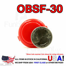 Sanwa Denshi Original OBSF-30 Red Push Button JAMMA guitar killswitch 30mm