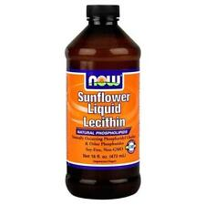 NOW FOODS SunFlower Lecithin Liquid 16oz. Bottle  Fresh 04/2019EXP!