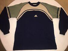 Vintage ADIDAS 100% Cotton Crewneck Sweater 90's Men's Large L HIP HOP