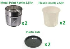 2.5L Metal Tin, Plastic Inserts, Lids, Painting and Decorating, Tools