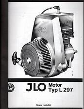VINTAGE JLO TYP L 297 SNOWMOBILE ENGINE PARTS MANUAL in BINDER