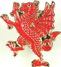 ROYAL WELCH FUSILIERS RAMPANT DRAGON HAND MADE GOLD PLATED LAPEL PIN BADGE