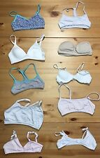 10 Size 30A Small Training Bras Lot DELTA Maidenform Fruit of the Loom Dollhouse