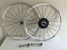 Mavic Ksyrium Equipe White Road Bike Wheelset 700C F/V Shimano Sram 11Speed W/QR