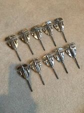 VINTAGE ROGERS BASS DRUM TENSION RODS AND CLAWS 70s Complete set of 10 Lot2