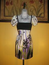 NWT  bebe 100% Silk Erotic Blossom Dress Size XS