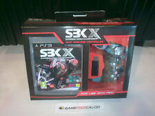 SBK X SUPERBIKE + CONTROLLER WIRELESS - SONY PS3 - VIDEOGIOCO NUOVO NEW SEALED