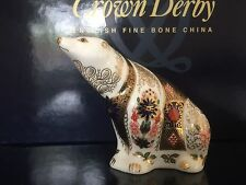 Royal Crown Derby 1st Quality Old Imari Polar Bear Paperweight
