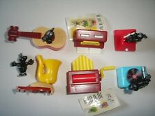 KINDER SURPRISE SET - FUNNY MUSIC NOTES INSTRUMENTS - FIGURES TOYS COLLECTIBLES