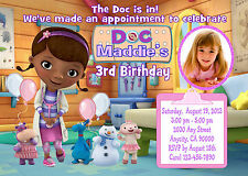 DOC McSTUFFINS CUSTOM PRINTABLE BIRTHDAY PARTY INVITATION & FREE THANK U CARD
