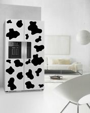 Cow Patches Fridge Kitchen Stickers Print Waterproof Refrigerator Wall Decals UK