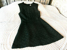 Black embossed cocktail party dress by BONSUI Labelled T2 10 ?