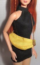 PURSE ~ BARBIE DOLL CHARLOTTE OLYMPIA MINIATURE YELLOW BANANA BAG FOR DIORAMA