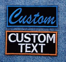"YOUR CUSTOM TEXT  2""X 4""  MOTORCYCLE PATCH FAVORITE BIKER SAYING - OR NAME"