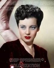 GAIL RUSSELL IN A RED SEQUINED DRESS BEAUTIFUL COLOR PHOTO BY CHIP SPRINGER