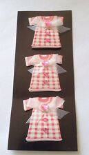 3 Dress Card Topper Embellishments Crafts scrapbooking card making Kids Ribbon