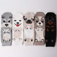 DOG NOVELTY CARTOON SOCKS 5 pairs=1pack women girl cute MADE IN KOREA socks