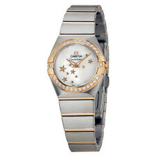 Omega Constellation Mother of Pearl Steel and Rose Gold Diamond Ladies Watch