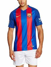 2016-2017 Barcelona Authentic Home Blue Top Jersey Royal Soccer Medium Football