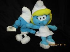 "Smurfette 9"" Plush Toy 2010 & Baby Smurf, 2008, Wallace Berrie, lot of 2"