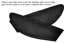 BLUE STITCH FITS LOTUS ELAN M100 2X DOOR CARD TRIM INSERT LEATHER COVERS ONLY