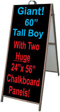 "25""x60"" Hardwood A Frame Double Sided Sandwich Board  24""x56"" Chalkboard Inserts"