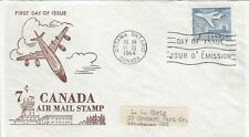 1964 #414 Air Mail Stamp 7 cents FDC with Ginn cachet