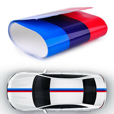 Fits BMW M-Colored Power Flag Stripe Sticker Decal Auto Car Hood Roof Fender 2M