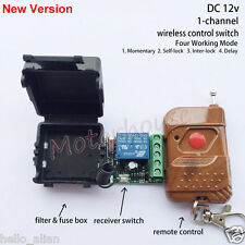 DC 12V 1CH Channel Wireless RF Remote Control Switch Transmitter+ Receiver Relay